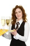 Empregada de mesa Imagem de Stock Royalty Free