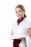 Empregada de mesa bonita Foto de Stock Royalty Free
