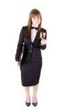 Empregada de mesa com um vidro do vinho (2) Imagens de Stock Royalty Free