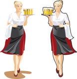 Empregada de mesa da cerveja Fotografia de Stock