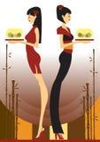 Empregada de mesa de Oirental Imagem de Stock Royalty Free