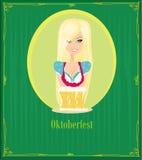 Empregada de mesa de Oktoberfest Imagens de Stock Royalty Free