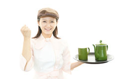 Empregada de mesa de trabalho Foto de Stock