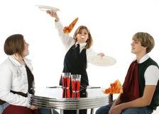 Empregada de mesa desajeitada Imagem de Stock