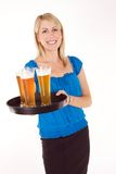 Empregada de mesa do cocktail imagem de stock royalty free