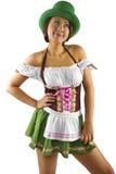 Empregada de mesa do dia do St Patricks Fotografia de Stock Royalty Free