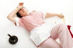 Empregada de mesa esgotada Imagem de Stock