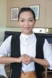 Empregada de mesa no trabalho Imagens de Stock
