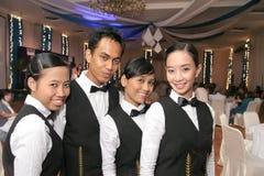 Empregada de mesa no uniforme Imagens de Stock Royalty Free