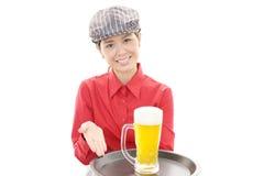 Empregada de mesa nova de trabalho Imagens de Stock Royalty Free