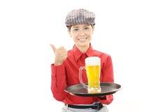 Empregada de mesa nova de trabalho Imagem de Stock Royalty Free