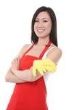 Empregada doméstica asiática da mulher foto de stock royalty free