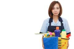 Empregada doméstica asiática da mulher Imagens de Stock