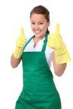 Empregada doméstica bonita da mulher imagem de stock