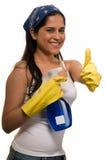Empregada doméstica com polegares acima Imagens de Stock Royalty Free