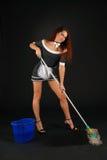 Empregada doméstica da câmara no terno conventionalized erótico Imagens de Stock Royalty Free