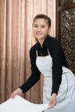 Empregada doméstica da câmara no trabalho Fotos de Stock Royalty Free