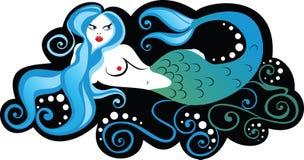 Empregada doméstica do mar ilustração royalty free