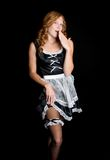 Empregada doméstica 'sexy' de Fench Imagens de Stock Royalty Free