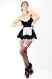 Empregada doméstica 'sexy' do francês das mulheres novas. Imagens de Stock Royalty Free