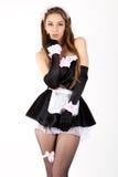 Empregada doméstica 'sexy' do francês das mulheres novas. Fotos de Stock Royalty Free