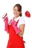 Empregada doméstica bonito da mulher Fotografia de Stock Royalty Free