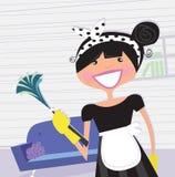 Empregada doméstica do francês do â da dona de casa Imagens de Stock