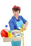 Empregada doméstica em seu serviço Fotografia de Stock Royalty Free