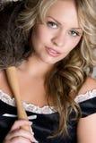 Empregada doméstica francesa bonita Fotografia de Stock