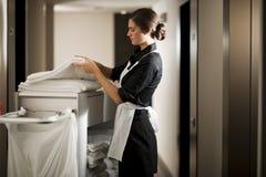 Empregada doméstica no trabalho Imagens de Stock Royalty Free