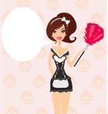Empregada doméstica 'sexy' do francês do estilo do pinup Imagens de Stock Royalty Free