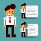 Empregado de escritório em variações diferentes Fotografia de Stock