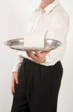 Empregado de mesa com bandeja 2 Imagem de Stock