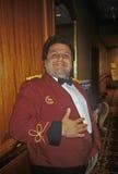 Empregado de mesa de sorriso no Fundraiser Democratic imagens de stock royalty free
