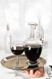 Empregado de mesa de vinho Foto de Stock