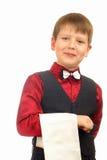 Empregado de mesa do menino da criança Foto de Stock