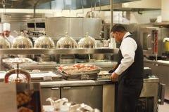 Empregado de mesa e cozinheiros, hotel de Paris, Las Vegas Fotografia de Stock Royalty Free