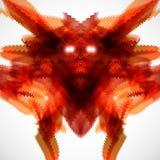 Empregado do inferno em um fundo cinzento Imagem de Stock Royalty Free