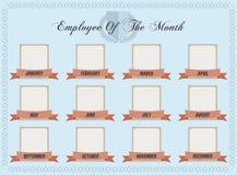 Empregado do mês ilustração royalty free