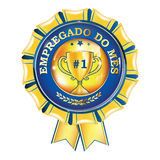Empregado do mes - Employee of the month in Portuguese language Stock Photography