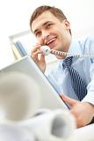 Empregador bem sucedido Fotografia de Stock Royalty Free