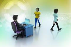 Empregador e candidato, conceito de aluguer do trabalho Fotografia de Stock