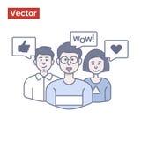 Empregados que falam a seus chefe e acordo novo feliz Fotografia de Stock