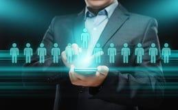 Emprego do recrutamento da gestão da hora dos recursos humanos que caça cabeças o conceito Imagem de Stock