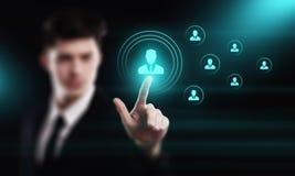 Emprego do recrutamento da gestão da hora dos recursos humanos que caça cabeças o conceito Foto de Stock