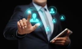 Emprego do recrutamento da gestão da hora dos recursos humanos que caça cabeças o conceito Foto de Stock Royalty Free