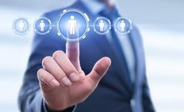 Emprego do recrutamento da gestão da hora dos recursos humanos que caça cabeças o conceito Imagem de Stock Royalty Free