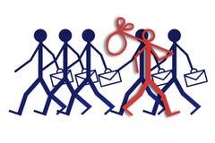 Emprego e desemprego Imagens de Stock Royalty Free