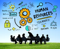 Emprego Job Teamwork Business Meeting Concept dos recursos humanos Imagens de Stock