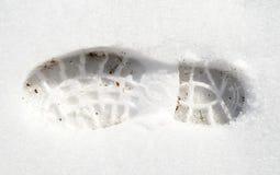 Empreinte de pas dans la neige blanche Image libre de droits